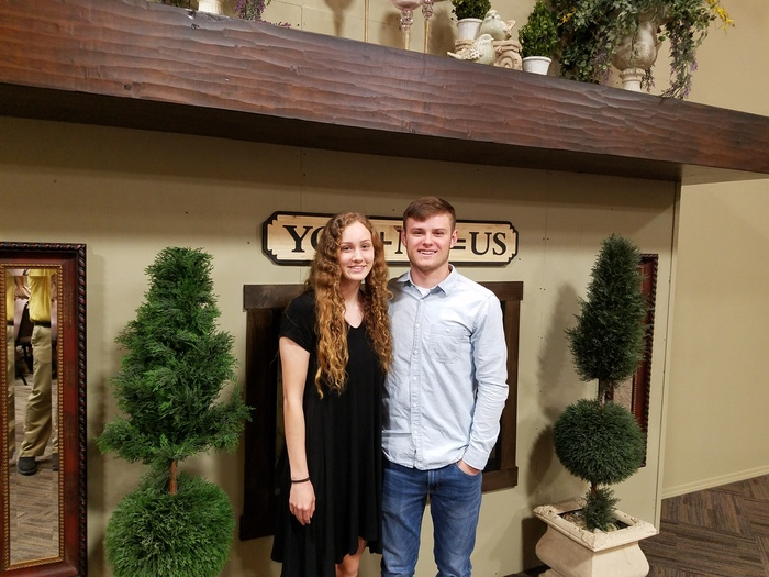 Leah Brown and Connor Butler represented Cumberland High School at the LOVC senior luncheon at Yoders kitchen in Arthur on Wednesday, April 24th.
