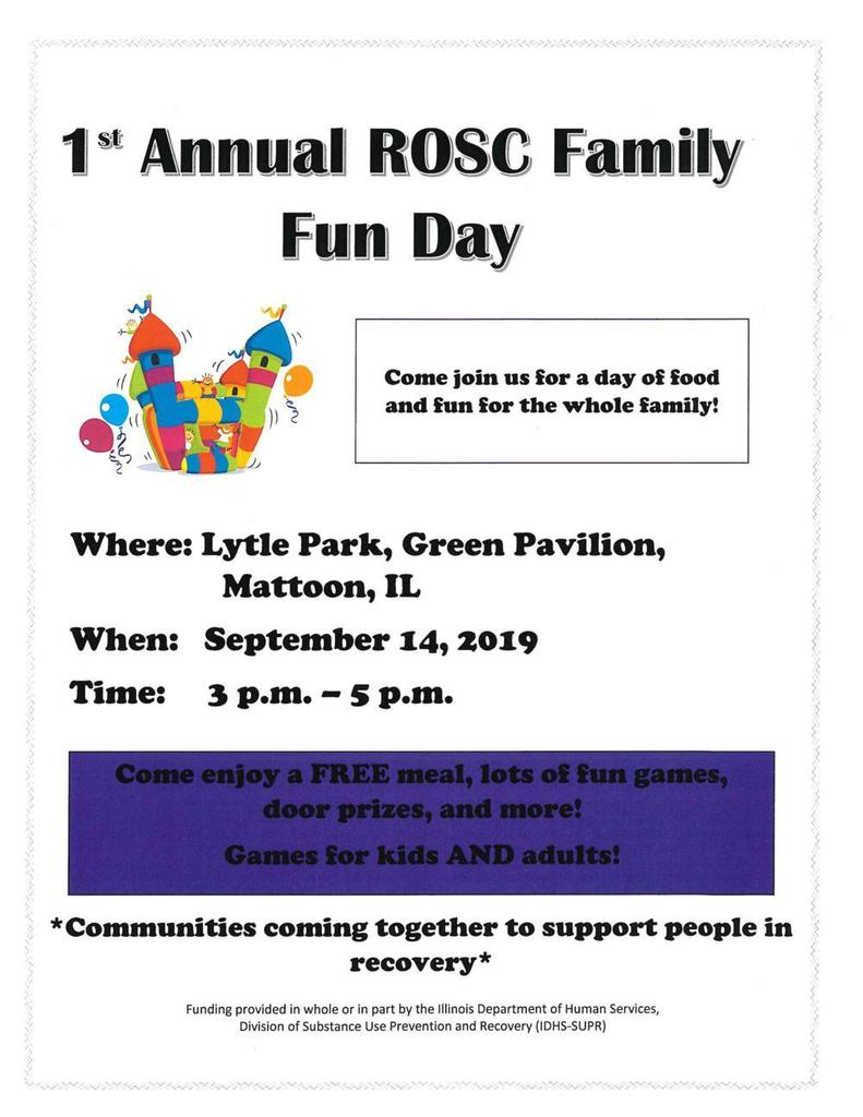 1st Annual ROSC Family Fun Day