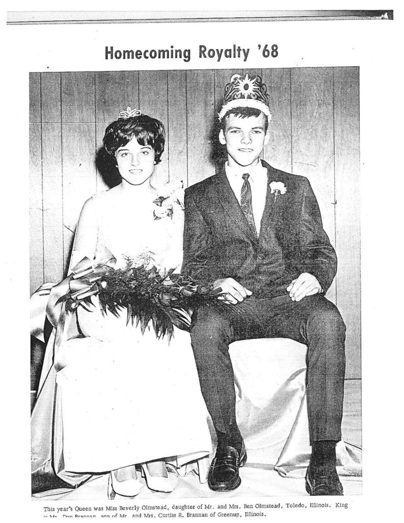 1968 Homecoming King and Queen celebrates 50th wedding anniversary