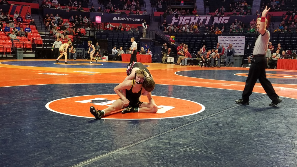 Zike wrestles in 1st round at IHSA State Wrestling Tournament