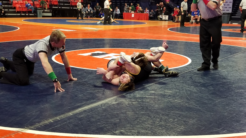 Zike wins in 1st round at IHSA State Wrestling Tournament